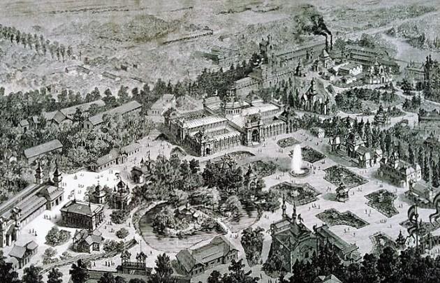 A Budapesti Általános Országos Kiállítás pavilonjai, 1885