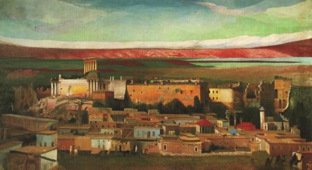 Csontváry Kosztka Tivadar, Baalbek 1906 (Olaj, vászon, 385 x 714,5 cm, Janus Pannonius Múzeum, Pécs)
