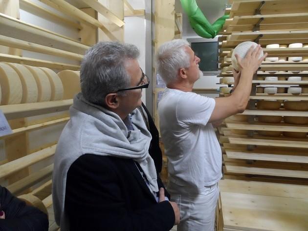Carlo Piccoli a sajtüzemében