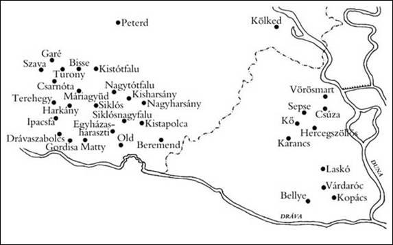 Drávaszög térképe