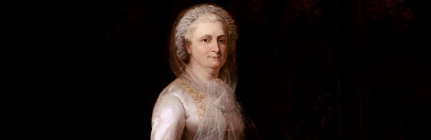 """Martha Washington (1731-1802) amerikai """"first lady"""" (1789–97) George Washington felesége"""