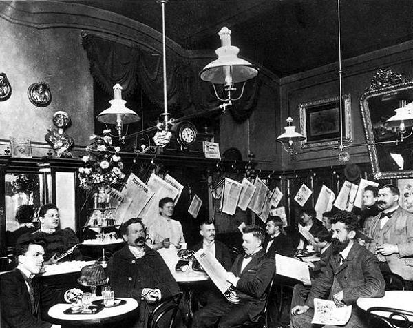 Kávéház a 20. század elején (Bécs)