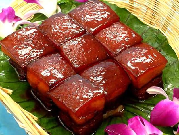 Én valami ilyen Dongpo sertés készítek babbal, korianderrel, chilivel