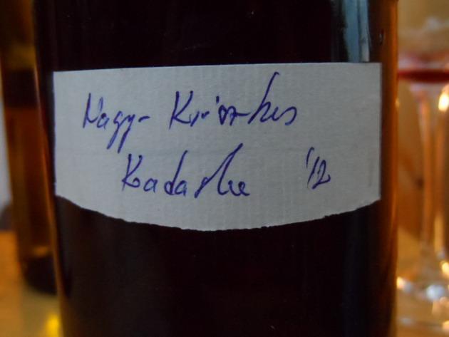 Maurer Oszkár, Nagy-Krisztus Kadarka, palackozás előtti minta