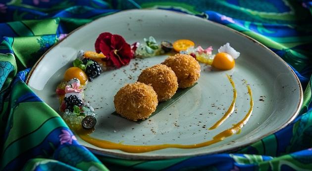 Ázsiai citromfüves tápioka ropogós kókuszos rizzsel, Sago Lemongrass with Crunchy Coconut Rice, Buddha-bar, Budapest