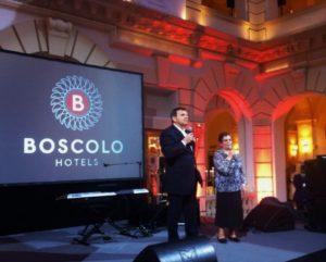 Romano Boscolo úr a Bioscolo Budapest Hotel 10. születésnapjára rendezett fogadáson