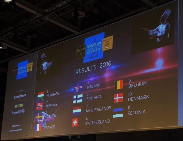 Bocuse d'Or Europe2016 - Az eredmények