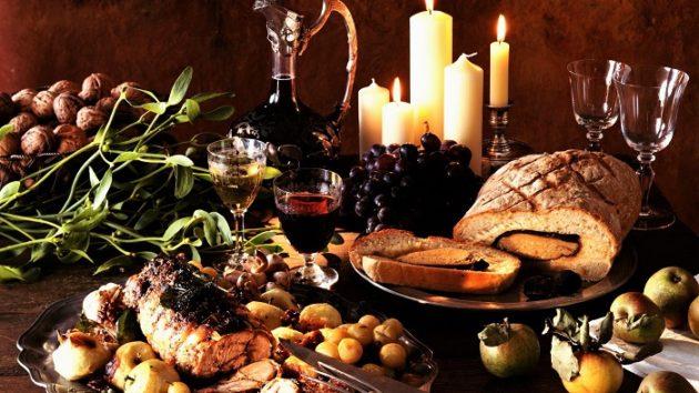 A borvacsorán az étel válik főszereplővé