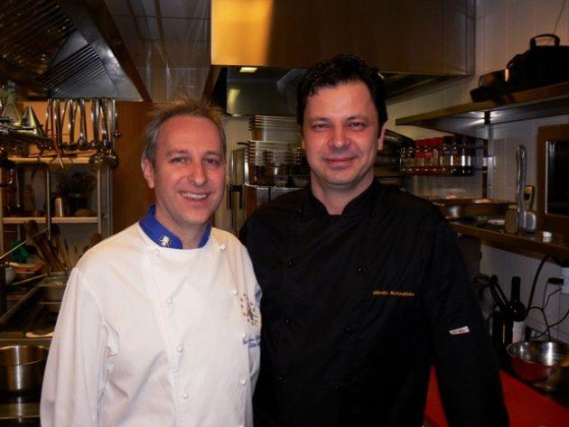Segal Viktor és Vörös Krisztián a Merops Étterem konyháján (Szekszárd)