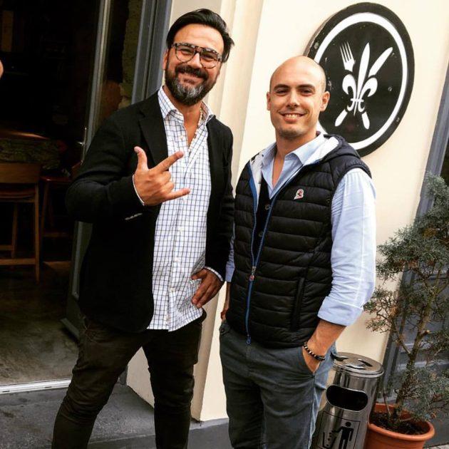 Gianni Annoni és Paolo Tommasi a Pomo d'Oro előtt
