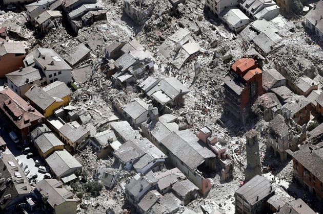 Amatrice a 2016-os földrengés után
