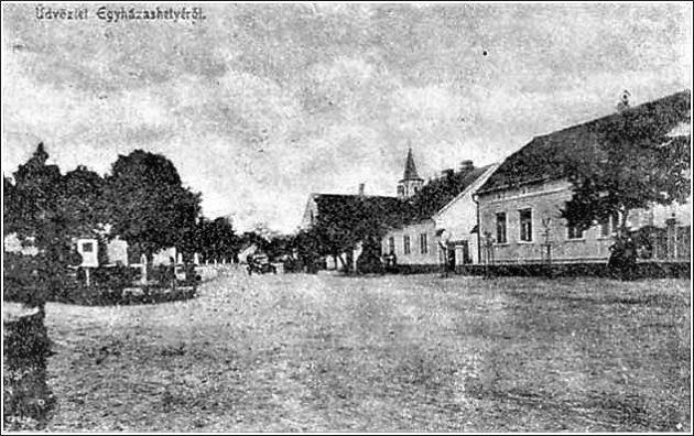 Üdvözlet Egyházashetyéről (utcakép az 1930-as évekből) Forrás: sulinet