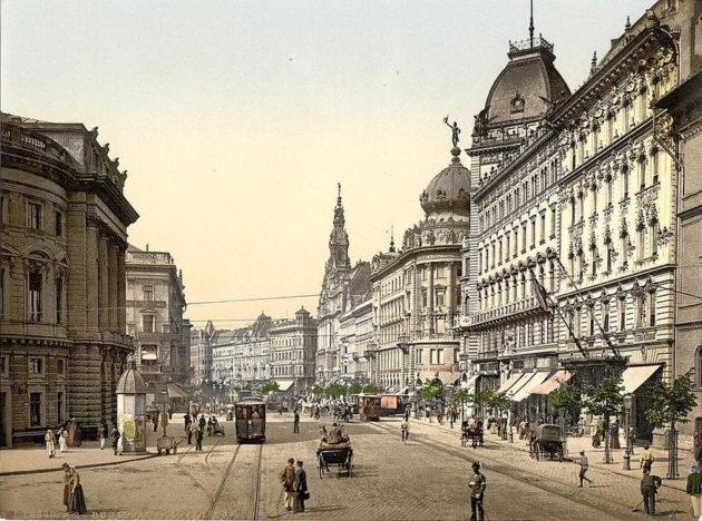 Nagykörút 1900 körül. Budapest Emke.