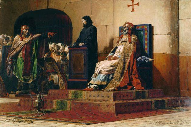 Jean Paul Laurens festménye (1870) - Formosa pápa és VI. István