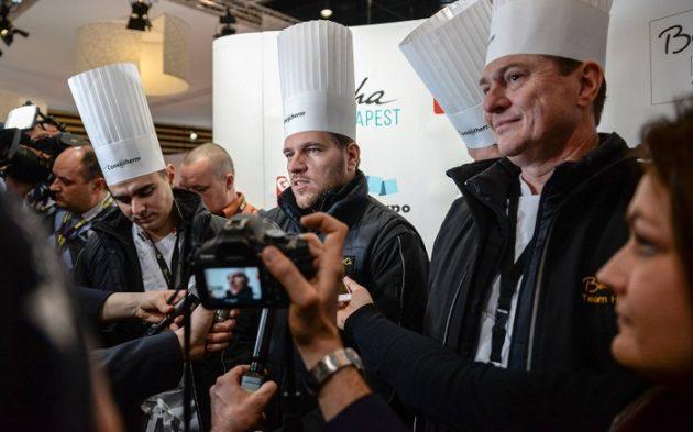 Szabó Kevin, Széll Tamás és Vomberg Frigyes a verseny után (2017, Lyon)