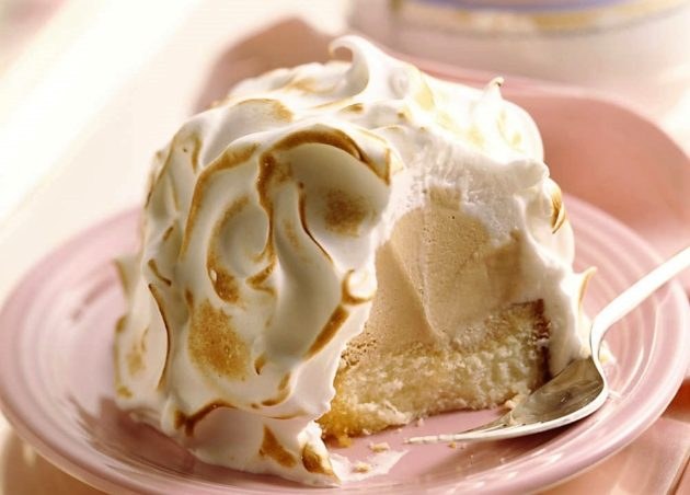 A Baked Alaska valójában a norvég omlett (omlette norvégienne) amerikaI elnevezése (A képen: Omelette norvégienne à la vanille)