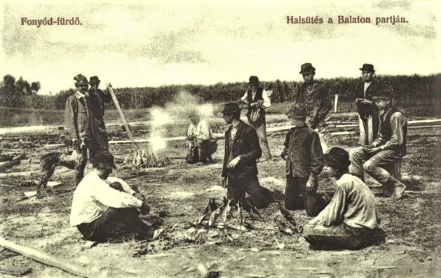 Halsütés a Balaton partján (Fonyód-fürdő)
