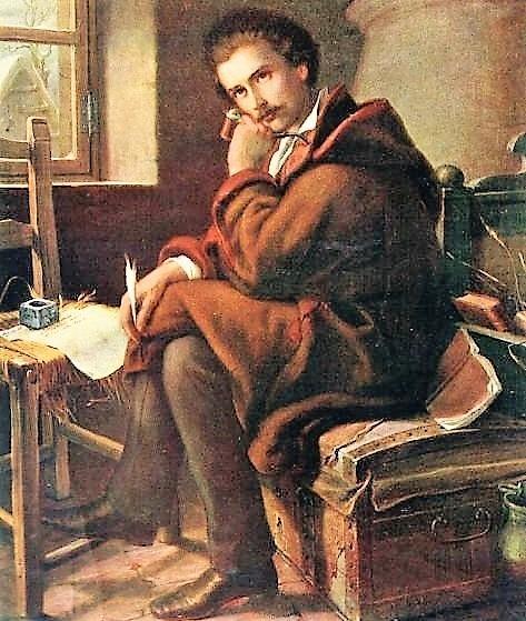 Petőfi Debrecenben (1844) Orlay festménye