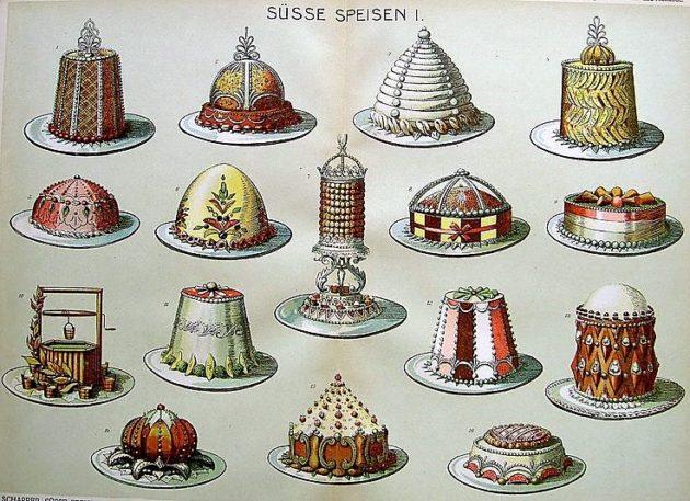 Marie-Antoine Carême néhány ételének rajza
