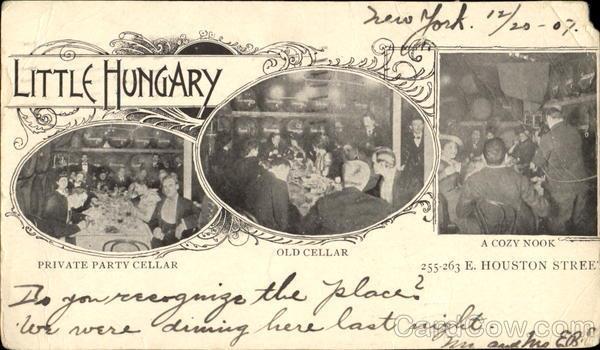 """A """"Little Hungary"""" egy 1907. december 20-án kelt képeslapon"""