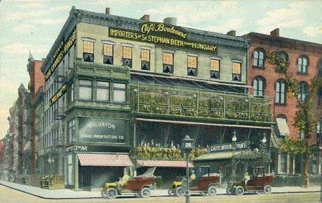 Rosenfeld Ignác népszerű magyar étterme, a Café Boulevard (New York, 1909)