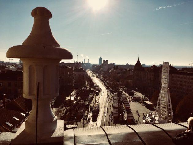 Debrecen, a Református Nagytemplom tetejéről