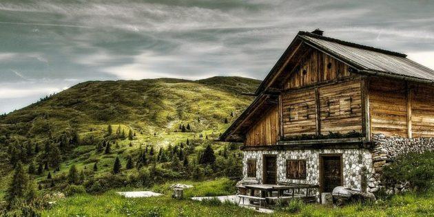 Egy Hütte Dél-Tirolban, a Dolomitokban