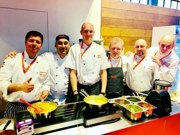 Az Unilever Food Solutions stábja a kiállításon