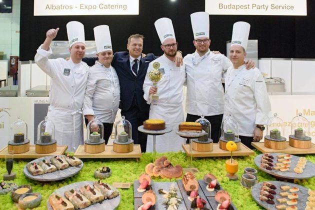 Az International Catering Cup 2018 győztes csapata (Budapest, Sirha)