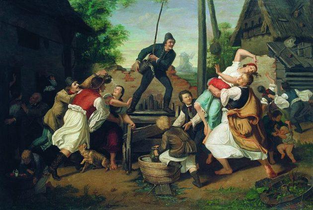 Munkácsy Mihály: Húsvéti locsolkodás (1864, Magyar Nemzeti Galéria, Budapest)