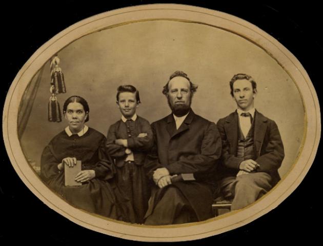 James és Ellen White és gyermekeik