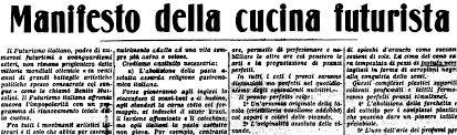 A Futurista Konyha Kiáltványa (Gazzetta del Popolo, 1930)