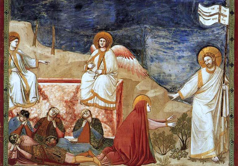 Noli me tangere! Giotto. 200 x 185 cm. Scrovegni (Arena) Chapel, Padua, Italy