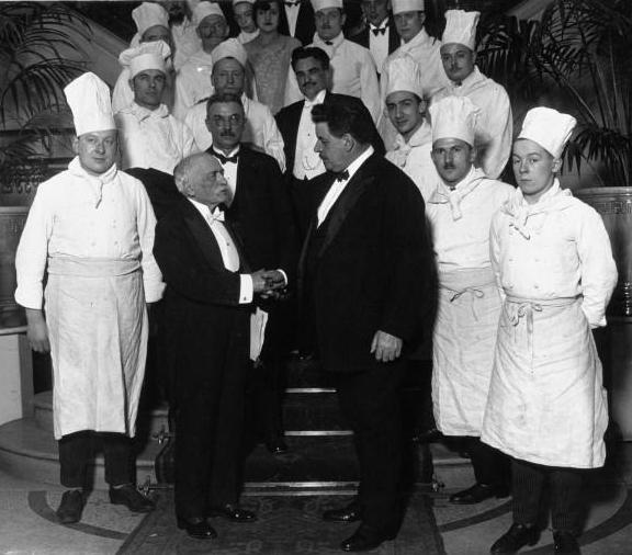 Escoffier és Edouard Herriot francia miniszterelnök