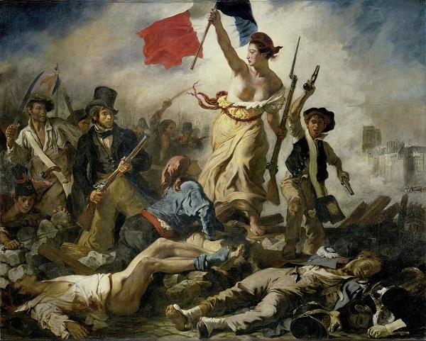 Eugéne Delacroix, A szabadság vezeti a népet (1830)