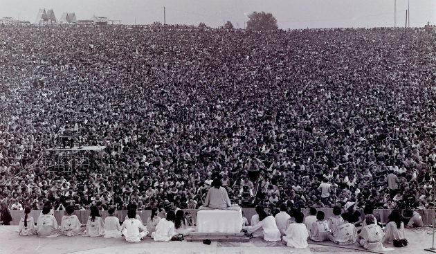 A woodstocki nyitó ceremónia 1969. augusztus 14-én