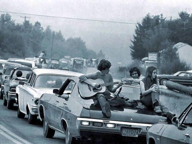 Woodstock, 1969 - úton a festiválra