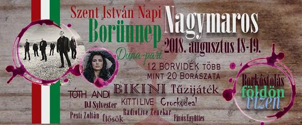 Szent István Napi Borünnep, 2018. augusztus 18-19, Nagymaros