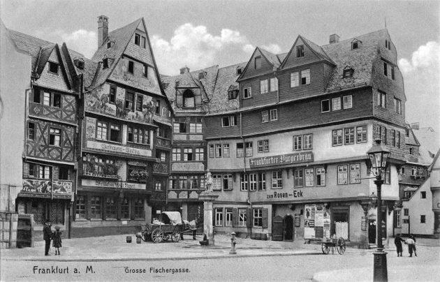 Frankfurt am Main óvárosában a Roseneck, 1900 körül
