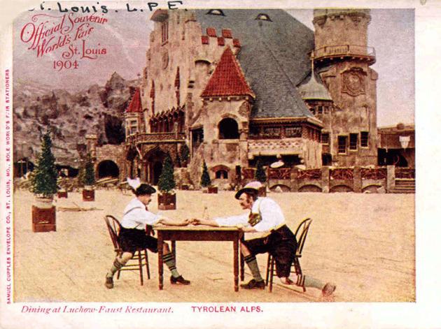 Az 1904-es, St. Louisban rendezett világkiállításon, a Tyrolean Alps Restaurant