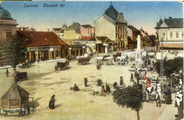 A szolnoki Kossuth tér, az 1900-as évek elején