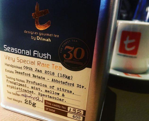 A Dilmah évente megjelenő Seasonal Flush ceyloni teái extra limitált kiszerelésben készülnek, kereskedelmi forgalomba nem kerülnek.