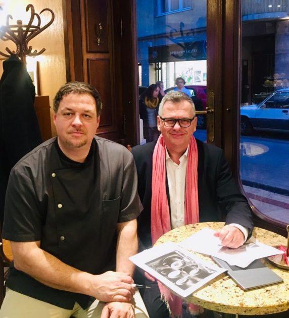 Jászai Tibor, a Gerlóczy Kávéház séfje és Csíki Sándor, a Tour de Chef meghívottja (FOOD&WINE)