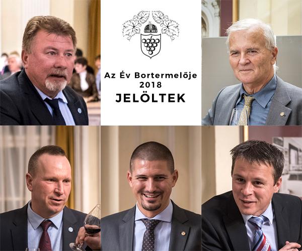 A díjért versengők közül, a jelölés során a öt legtöbb szavazatot kapott borász
