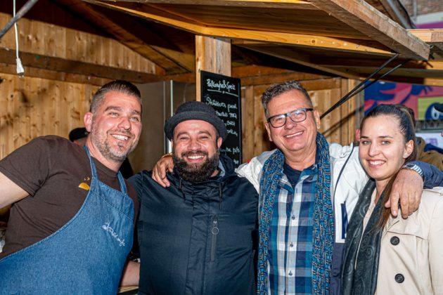 Pauli Zoltán (Palkonyha), Halász Norbert (Zip's Brewery) Csíki Sándor (Food&Wine és Csíki Virág (Vivaco) Fotó: Szindbád az utazó