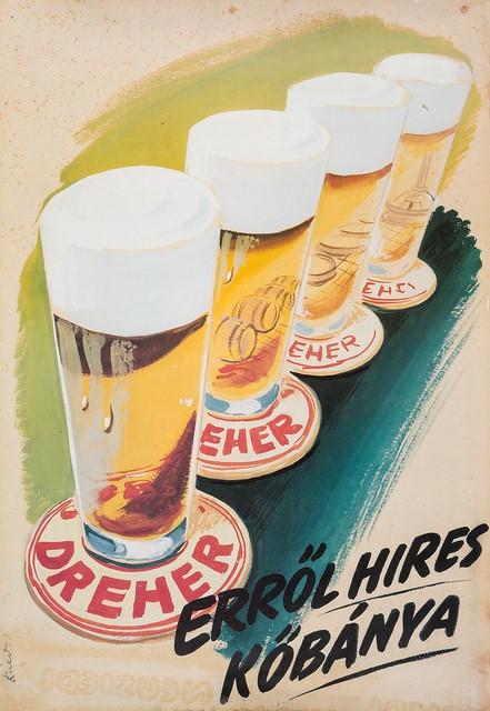 Dreher sör plakát