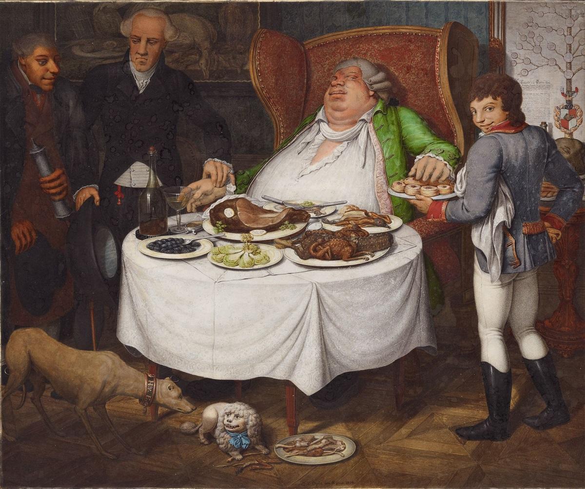 A jóllakott - Georg Emannuel Opiz német festő alkotása (1804)