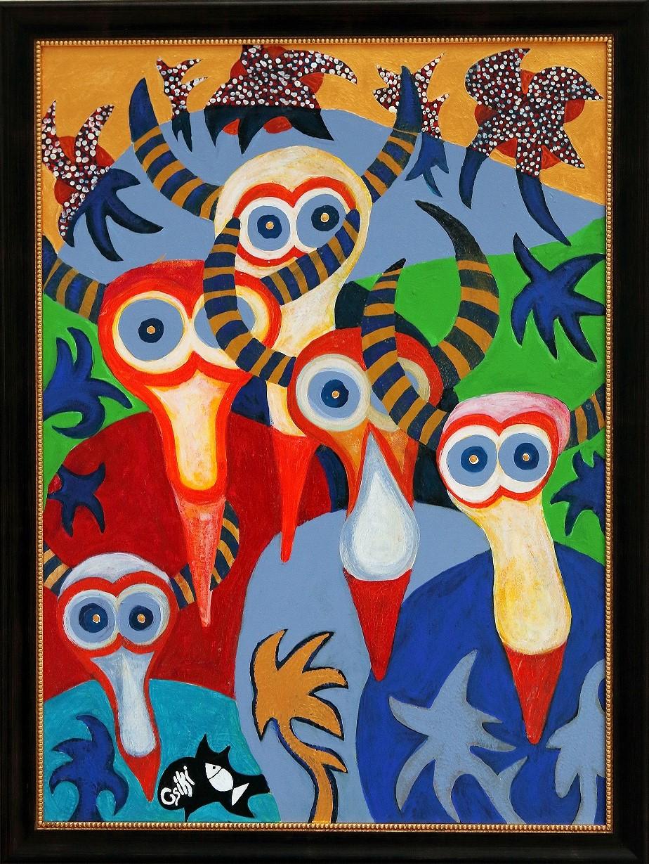 90 x 65 cm, akril, vászon, keretezve - ELADÓ - 430.000 Ft