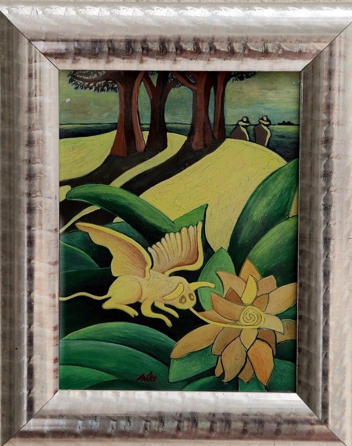 24 x 18 cm, tempera, karton, keretezve -+ ELADÓ - 160.000 Ft