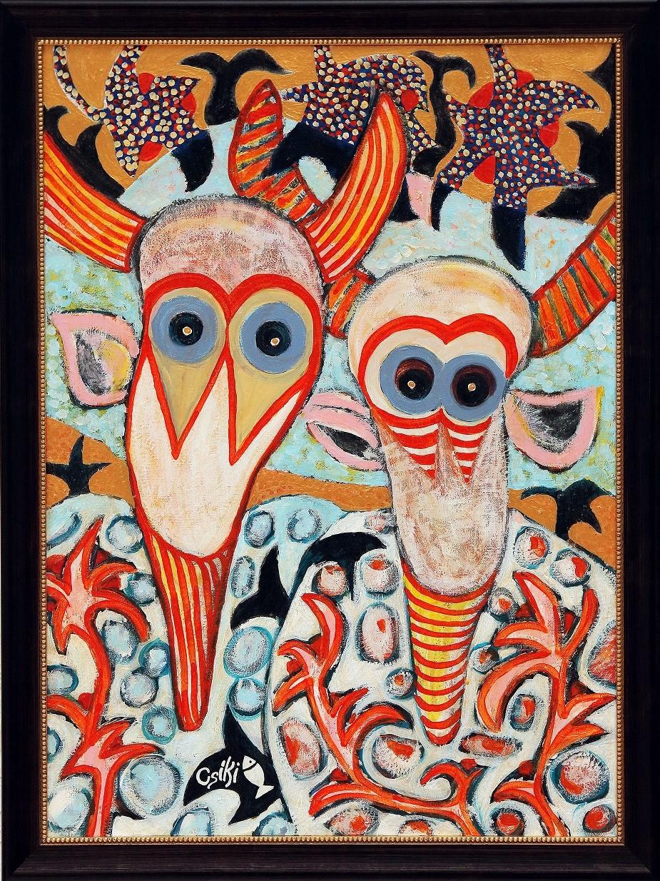 90 x 65 cm, akril, vászon, keretezve - ELADÓ - 450.000 Ft